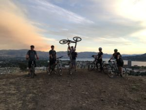 Mountain Bikers on Knox Mountain